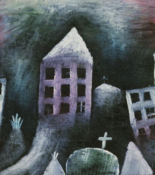 Kék Lovas - Paul Klee: Lerombolt település, 1920