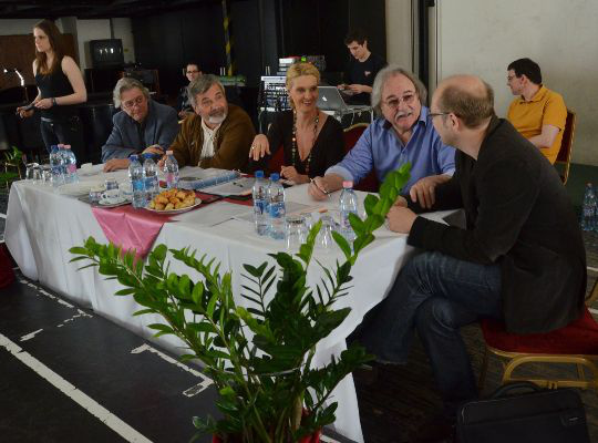 Az I. Lévay Szilveszter Nemzetközi Musical Énekverseny budapesti elődöntőjének zsűrije