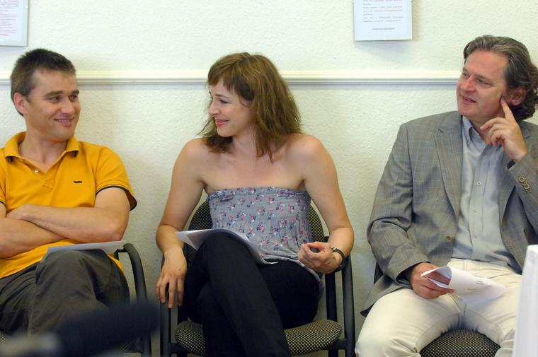 Az ember tragédiája - A főszereplők, Trill Zsolt, Ónodi Eszter és Rátóti Zoltán