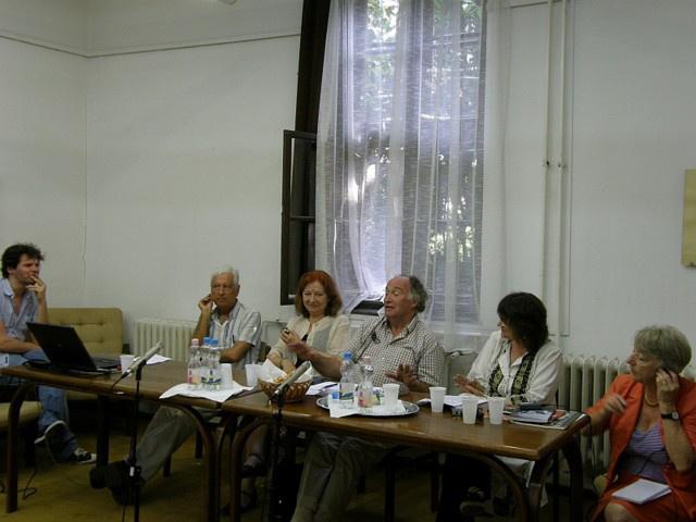 Balázs Zoltán, Koltai Tamás, Alice Georgesscu, Ian Herbert, Darvay Nagy Adrienne, Maria Shevtsova - Shakespeare-konferencia - Vilmos naplója - 6. nap