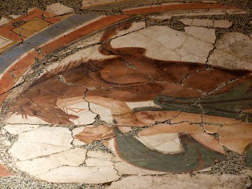 Brigetiói freskó részlete