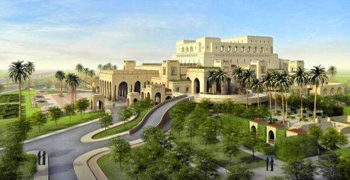 Az ománi operaház - látványterv
