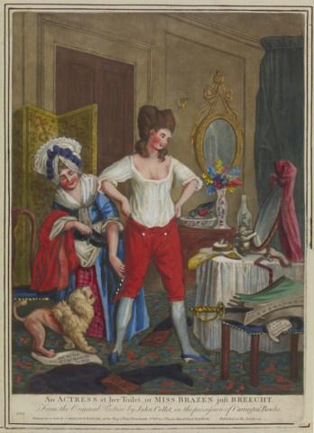 Színésznő az öltözőben - John Collett után, 1779 körül