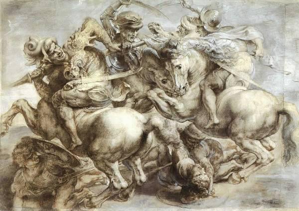 Leonardo da Vinci: Az anghiari csata (1505) - Peter Paul Rubens másolata, Louvreforrás: Wikipédia