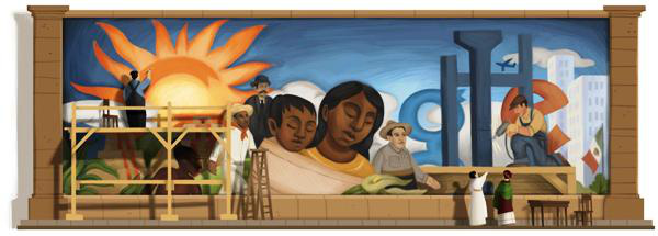 Google Doodle: Diego Rivera (2011. 12. 08.)