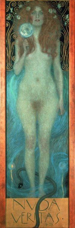 Klimt: Nuda Veritas (részlet)
