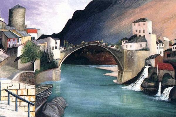 Csontváry Kosztka Tivadar: Római híd Mosztarban, 1903