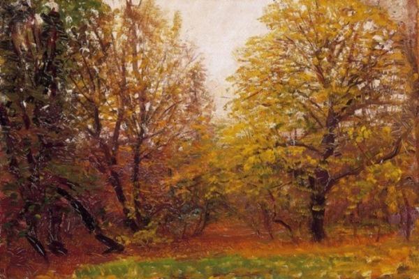 Mednyánszky László: Kora ősz a kertekben