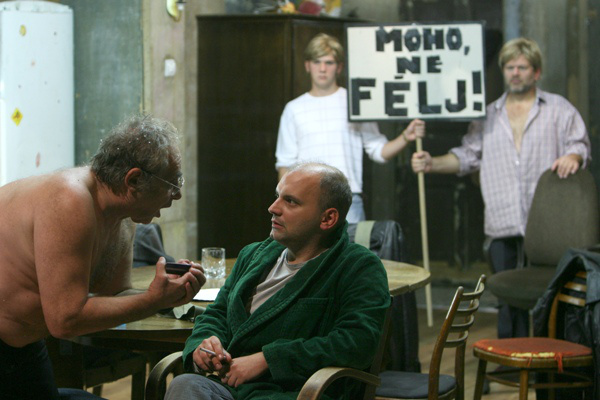 A Nemzeti Színház 2008/2009-es évada - A jég - az előtérben Hollósi Frigyes, Rába Roland