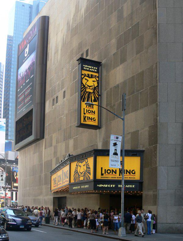 Minskoff Theatre - Az oroszlánkirály