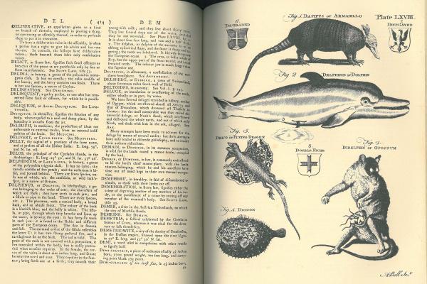 Fakszimile oldalpár - Britannica nagylexikon