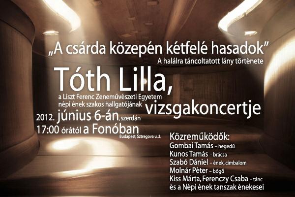 Tóth Lilla vizsgakoncert ajánló