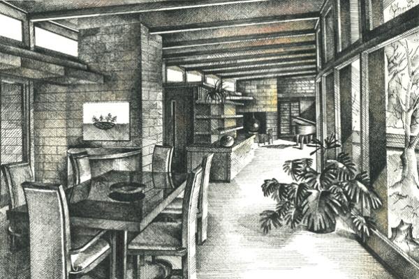 Bartos Erika - építészrajz - Frank Lloyd Wright