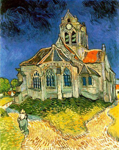 Auverse sur Oise-i templom - Vincent van Gogh
