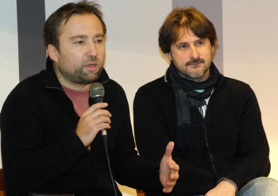 Tasnádi István és Vidovszky György az East Balkán sajtótájékoztatóján