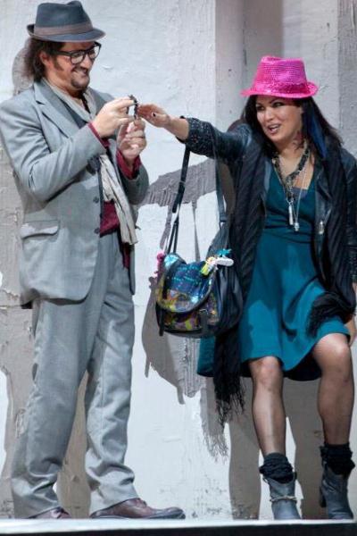 Massimo Cavalletti Marcello és Anna Netrebko Mimi szerepében a Bohéméletben