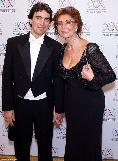 Carlo Ponti Jr. és Sophia Loren