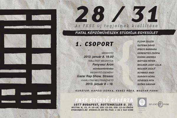 Fiatal Képzőművészek Stúdiója Egyesület: 28/31 - Stúdió Galéria
