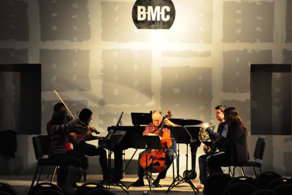 A Bard College Conservatory of Music koncertjének főpróbája a Budapest Music Centerben 2013. január 13-án