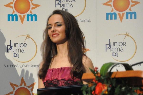 Gyöngyösi Ivett a 2012-es zenei Junior Prima díjátadón