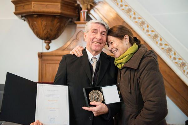 Korniss Péter és felesége, Korniss Edit a Kölcsey-díj átadásán