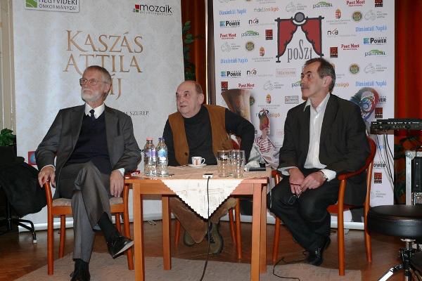 Szigethy Gábor, Bodrogi Gyula, Solténszky Tibor a XIII. POSZT versenyprogramjának kihirdetésén