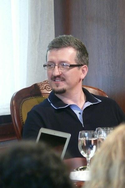 Székely Csaba a szakmai beszélgetésen - 13. Pécsi Országos Színházi Találkozó - 5. nap