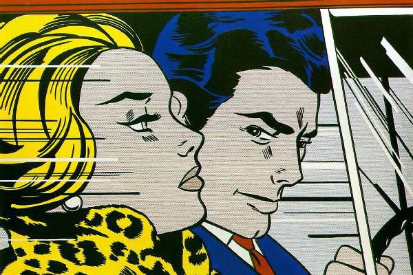Roy Lichtenstein: In the car (részlet)