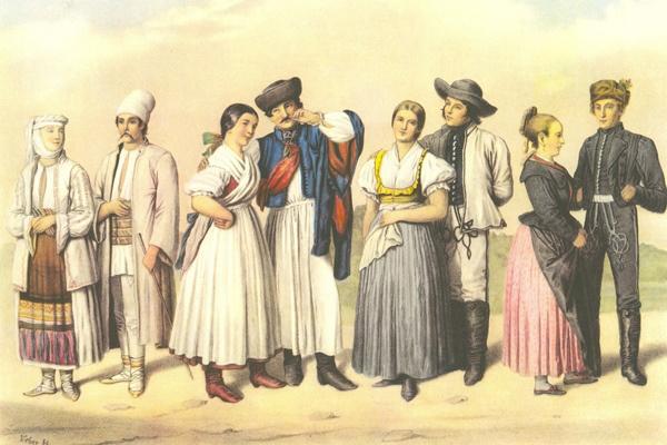Wéber Henrik: Magyarországi népviseletek