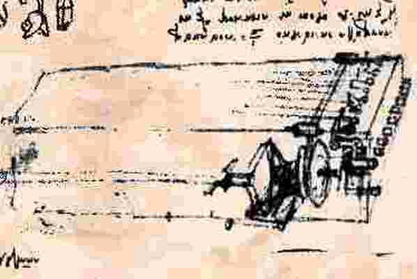 Viola organista - Leonardo terve a Codex Atlanticusból