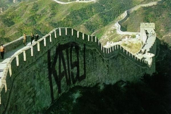 Tag a kínai nagy fal oldalán
