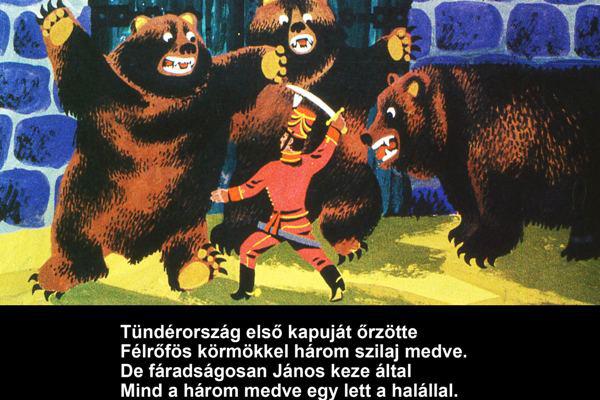 János Vitéz diafilmen
