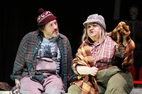 Gálffi László és Pogány Judit a Hamlet c. előadásban