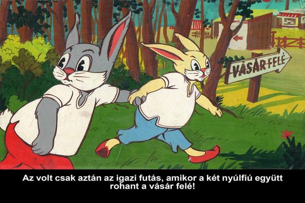 60 éves diafilm - Nyuszik - forrás: diafilm.hu
