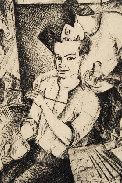 Derkovits Gyula: Mi ketten - Én és feleségem (1927) - részlet