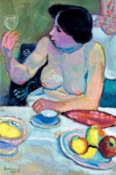 Berény Róbert: Nő pohárral