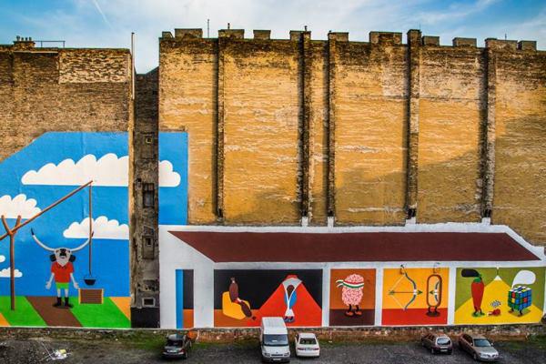 Orosz Richárd falfestménye