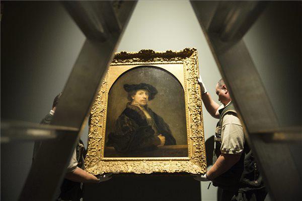Rembrandt A festő önarcképe harmincnégy éves korában című festménye a Szépművészeti Múzeumban