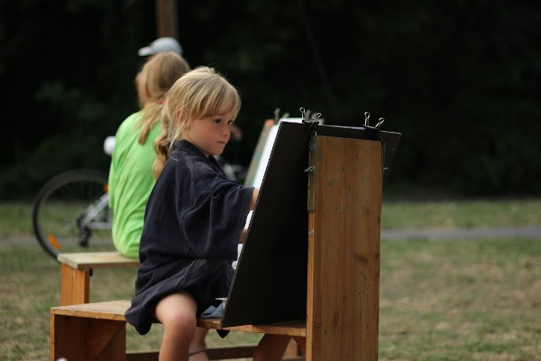 Ifjú képzőművészek a fesztiválon