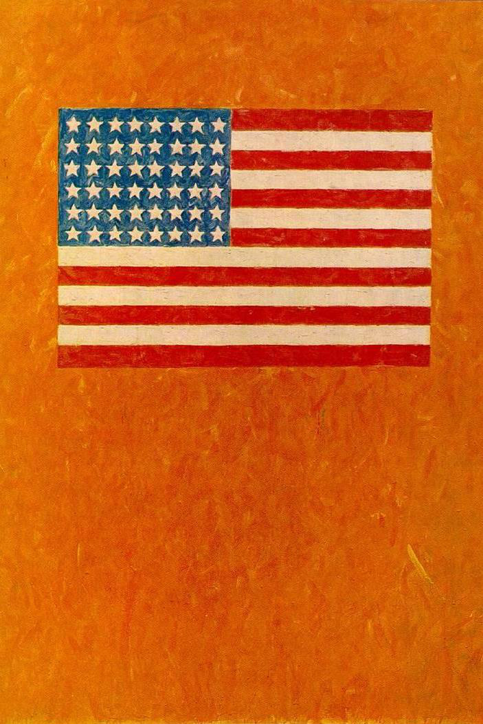 Jasper Jones: Flag on Orange Field, 1957