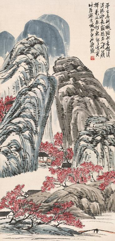 Qi Baishi: Őszibarackvirág-forrás, 1938 (Forrás MNG).jpg