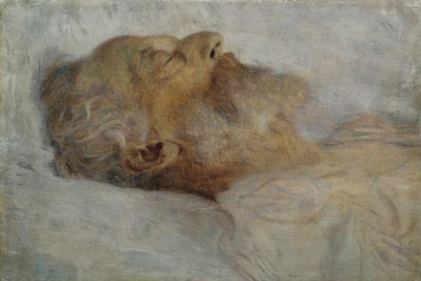 Klimt: Idős halott férfi az ágyban, 1899.