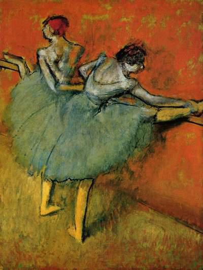 Degas: Táncosnők a korlátnál (1900)