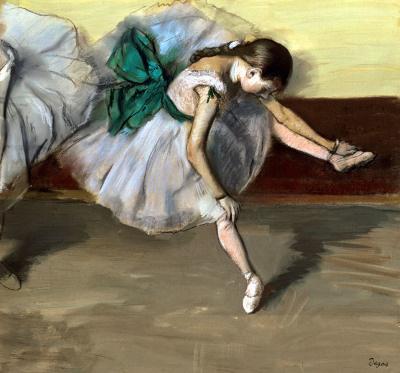 Degas: Pihenő táncosnő