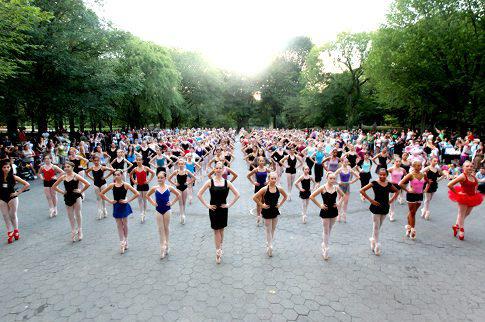Balettosok a Centrál Parkban