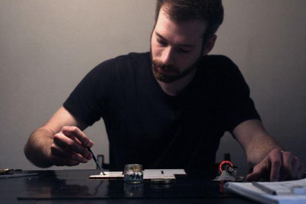 Szohátzky Dániel munka közben
