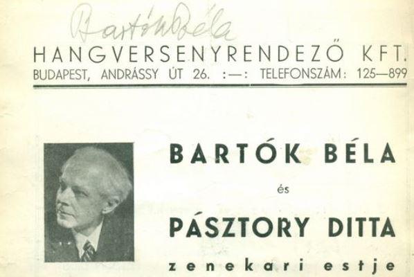 Bartók színlap 1940