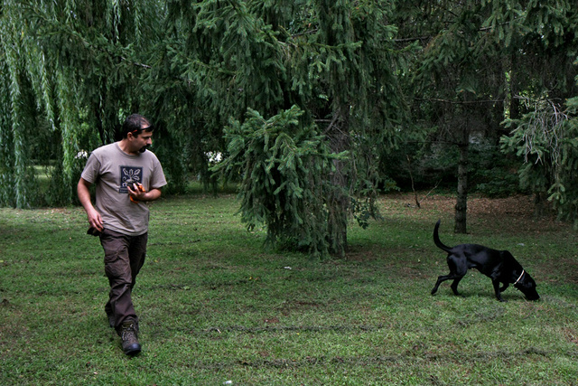 Bagi István és kutyája