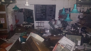 Megsemmisült egy Lövőház utcai étterem a viharban