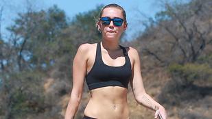 Miley Cyrus egy átlagos hétköznapon, túrázás közben a legszebb